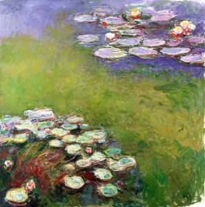 Claude Monet, French 1840–1926, Waterlilies (Nymphéas) 1914–17, oil on canvas, 200 x 200 cm Musée Marmottan Monet, Paris, Gift of Michel Monet, 1966 (inv. 5115) © Musée Marmottan Monet, Paris, © Bridgeman-Giraudon/Presse