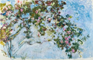 Claude Monet, French 1840–1926, Roses (Les Roses) 1925–26, oil on canvas, 130.0 x 200.0 cm Musée Marmottan Monet, Paris, Gift of Michel Monet, 1966 (inv. 5096), © Musée Marmottan Monet, Paris,© Bridgeman-Giraudon / Presse