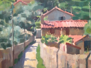 Colin Colahan, Provencescape c. 1948, Oil on canvas, Provate Collection, Courtesy Castlemaine Art Gallery and Historical Museum