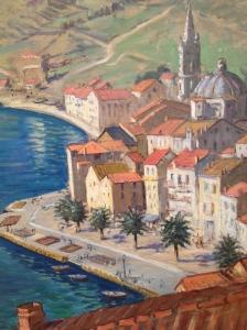 Dora L. Wilson, Calvi Corsica. Oil on board. Hamilton Art Gallery