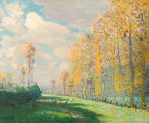 Edward Officer, (1870-1921), Autumn in Normandy (c.1896-99), oil on canvas, 52.7 x 63.8 cm, University of Melbourne Art Collection, Melbourne. Gift of Dr Samuel Arthur Ewing, 1938