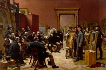 Charles West Cope, R.A. The Council of the Royal Academy selecting Pictures for the Exhibition, 1875 1876 Oil on canvas 145.20 x 220.10 x 2.70 cm Photo credit: © Royal Academy of Arts, London