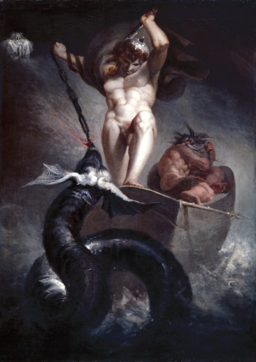 Henry Fuseli, R.A. Thor battering the Midgard Serpent 1790 Oil on canvas 133.0 x 94.60 cm Photo credit: © Royal Academy of Arts, London