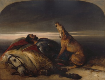 Sir Edwin Landseer, R.A. The Faithful Hound Ca.1830 Oil on canvas 68.40 x 91.20 x 3.0 cm Photo credit: © Royal Academy of Arts, London
