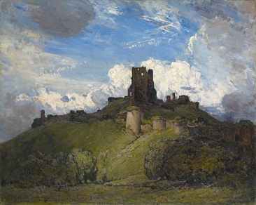 Arthur Streeton (1867–1943) Corfe Castle, 1909 Oil on canvas, 122.6 × 153.6 cm National Gallery of Victoria, Melbourne. Felton Bequest, 1914 RA 1910, no. 187