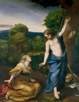 Antonio Correggio (c.1489–1534): Noli me tangere c.1525, oil on wood panel transferred to canvas 130.0 x 103.0 cm,  Prado, Madrid