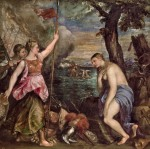 Titian (1485/90–1576): Religion succoured by Spain, c.1572–75 oil on canvas,168.0 x 168.0 cm, Prado, Madrid